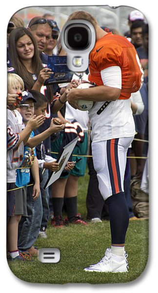 Autographed Art Galaxy S4 Cases - Chicago Bears QB Jimmy Clausen Training Camp 2014 02 Galaxy S4 Case by Thomas Woolworth