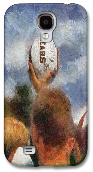 Autographed Art Galaxy S4 Cases - Chicago Bears Training Camp 2014 Autograph Time Galaxy S4 Case by Thomas Woolworth