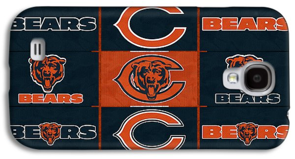 Recently Sold -  - Sports Photographs Galaxy S4 Cases - Chicago Bears Uniform Patches Galaxy S4 Case by Joe Hamilton