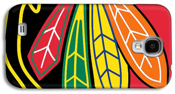 Champions Galaxy S4 Cases - Chicago Blackhawks Galaxy S4 Case by Tony Rubino