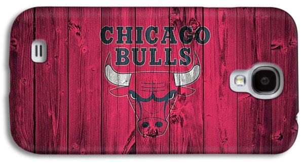Pippen Galaxy S4 Cases - Chicago Bulls Barn Door Galaxy S4 Case by Dan Sproul