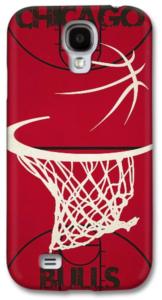 Chicago Bulls Galaxy S4 Cases - Chicago Bulls Court Galaxy S4 Case by Joe Hamilton
