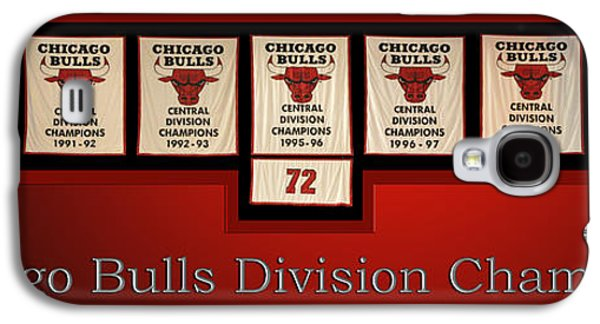 Pippen Galaxy S4 Cases - Chicago Bulls Division Champions Banners Galaxy S4 Case by Thomas Woolworth