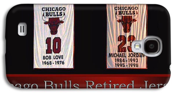Pippen Galaxy S4 Cases - Chicago Bulls Retired Jerseys Banners Galaxy S4 Case by Thomas Woolworth