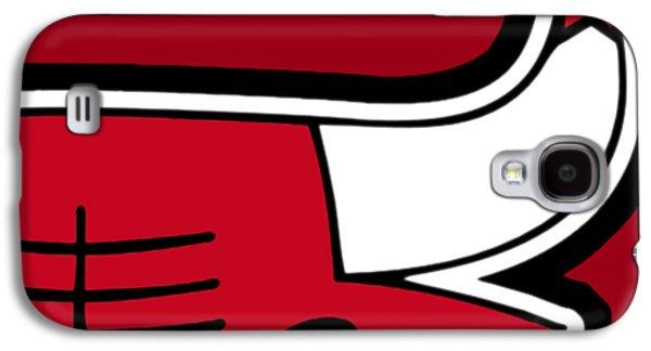 Nba Mixed Media Galaxy S4 Cases - Chicago Bulls Galaxy S4 Case by Tony Rubino