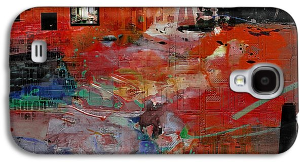 Cities Paintings Galaxy S4 Cases - Chicago Collage 2 Alternative Galaxy S4 Case by Corporate Art Task Force