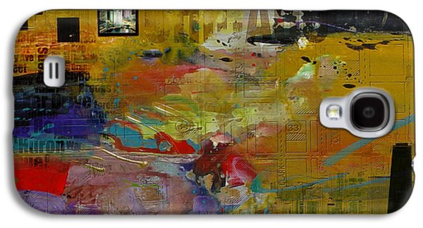 Cities Paintings Galaxy S4 Cases - Chicago Collage 2 Galaxy S4 Case by Corporate Art Task Force