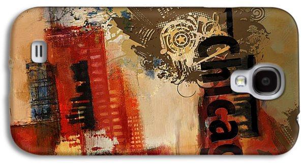 Digital Paintings Galaxy S4 Cases - Chicago Collage Alternative Galaxy S4 Case by Corporate Art Task Force