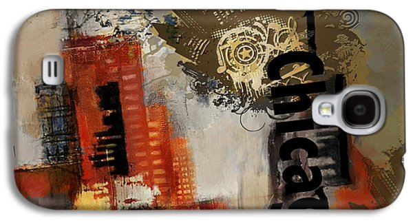 Cities Paintings Galaxy S4 Cases - Chicago Collage Galaxy S4 Case by Corporate Art Task Force