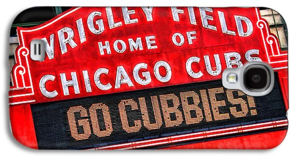 Chicago Paintings Galaxy S4 Cases - Chicago Cubs Wrigley Field Galaxy S4 Case by Christopher Arndt