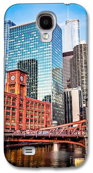 Chicago Downtown At Lasalle Street Bridge Galaxy S4 Case by Paul Velgos
