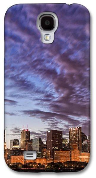 Schwartz Galaxy S4 Cases - Chicago Evening 2.1 Galaxy S4 Case by Donald Schwartz