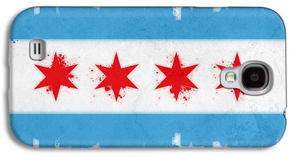 Architecture Mixed Media Galaxy S4 Cases - Chicago Flag Galaxy S4 Case by Mike Maher