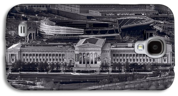 Soldier Field Galaxy S4 Cases - Chicago Icons BW Galaxy S4 Case by Steve Gadomski