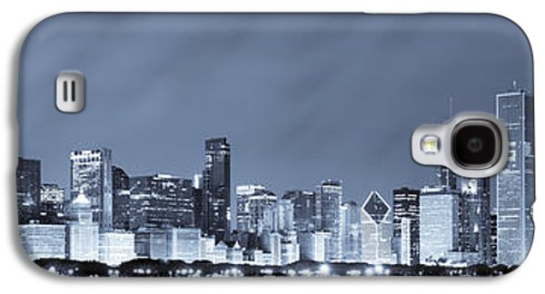 Chicago Galaxy S4 Cases - Chicago in Blue Galaxy S4 Case by Sebastian Musial