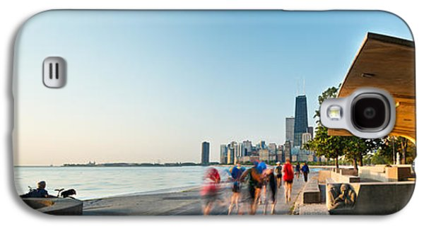 Jogging Galaxy S4 Cases - Chicago Lakefront Panorama Galaxy S4 Case by Steve Gadomski