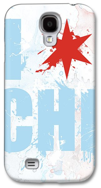 Nba Mixed Media Galaxy S4 Cases - Chicago Love Too Galaxy S4 Case by Mike Maher