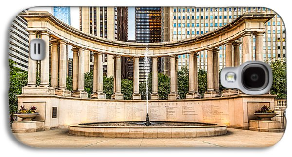 Greek Sculpture Galaxy S4 Cases - Chicago Millennium Monument in Wrigley Square Galaxy S4 Case by Paul Velgos