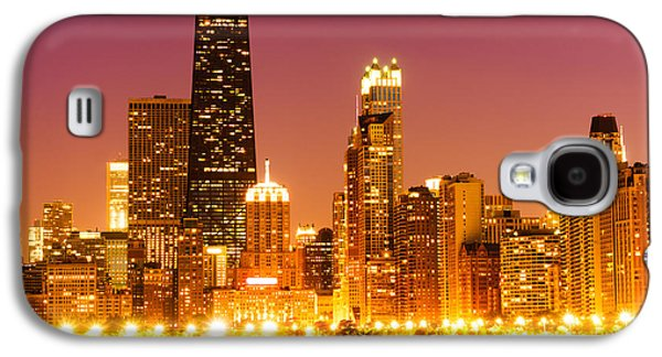 Chicago Night Skyline With John Hancock Building Galaxy S4 Case by Paul Velgos