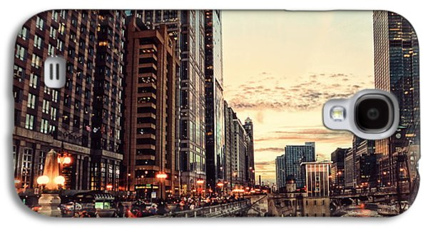 Lamp Post Mixed Media Galaxy S4 Cases - Chicago River November HDR Galaxy S4 Case by Thomas Woolworth