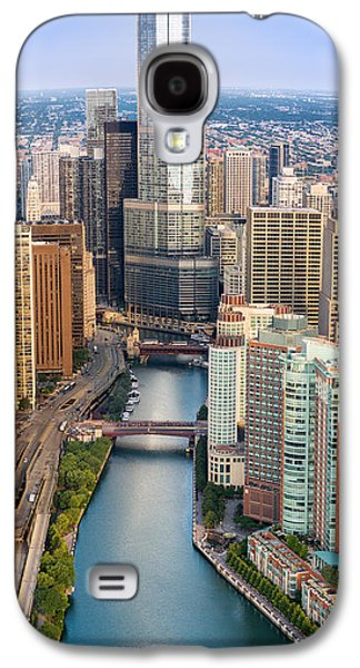 Chicago River Galaxy S4 Cases - Chicago River Sunrise Galaxy S4 Case by Steve Gadomski