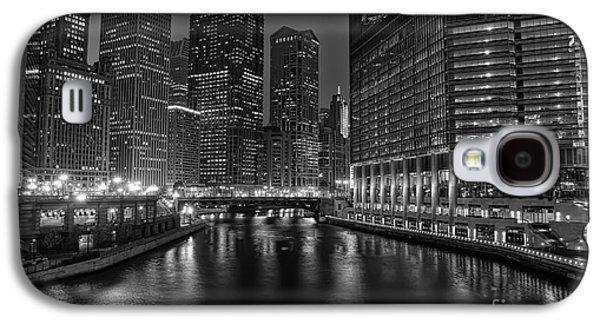 City Lights Galaxy S4 Cases - Chicago Riverwalk Galaxy S4 Case by Eddie Yerkish