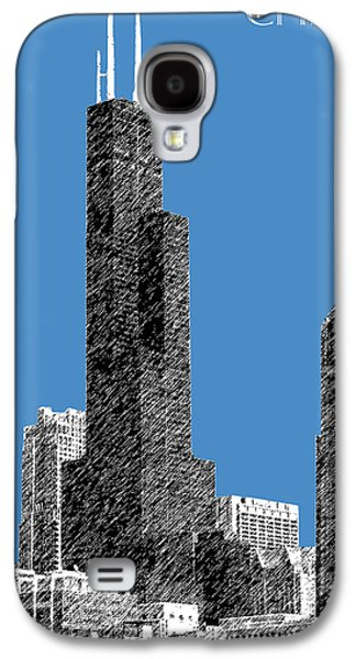 Mid-century Modern Decor Digital Galaxy S4 Cases - Chicago Sears Tower - Slate Galaxy S4 Case by DB Artist
