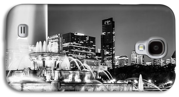 Landmarks Photographs Galaxy S4 Cases - Chicago Skyline at Night Panoramic Picture Galaxy S4 Case by Paul Velgos