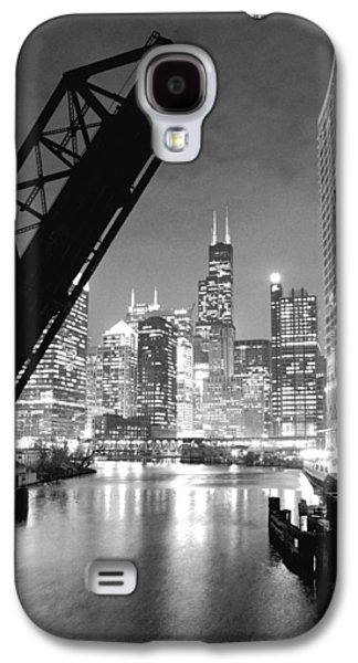 Chicago Galaxy S4 Cases - Chicago Skyline - Black and White Sears Tower Galaxy S4 Case by Horsch Gallery