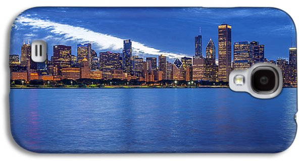 Schwartz Galaxy S4 Cases - Chicago Skyline June 2014 evening Galaxy S4 Case by Donald Schwartz
