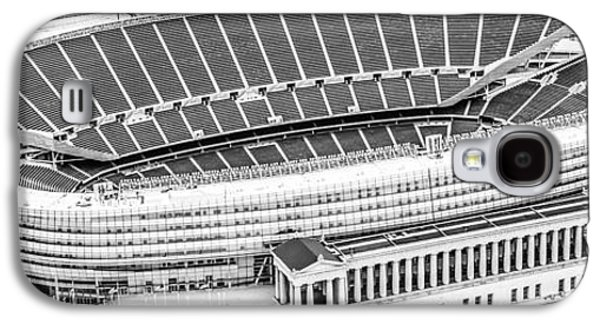 Soldier Field Galaxy S4 Cases - Chicago Soldier Field Aerial Panorama Photo Galaxy S4 Case by Paul Velgos