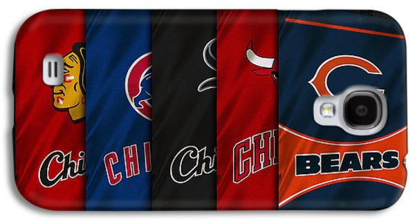 Baseball Uniform Galaxy S4 Cases - Chicago Sports Teams Galaxy S4 Case by Joe Hamilton