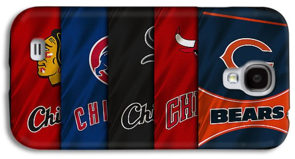 Uniform Galaxy S4 Cases - Chicago Sports Teams Galaxy S4 Case by Joe Hamilton