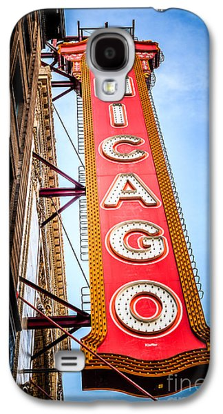 Historical Pictures Galaxy S4 Cases - Chicago Theater Sign Picture Galaxy S4 Case by Paul Velgos