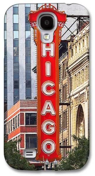 Popular Art Galaxy S4 Cases - Chicago Theatre - A classic Chicago landmark Galaxy S4 Case by Christine Till