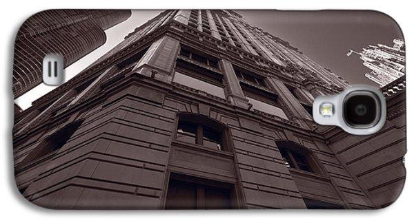 Wrigley Galaxy S4 Cases - Chicago Towers BW Galaxy S4 Case by Steve Gadomski