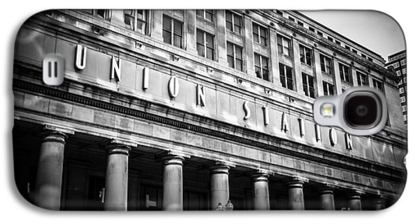 Terminal Photographs Galaxy S4 Cases - Chicago Union Station in Black and White Galaxy S4 Case by Paul Velgos
