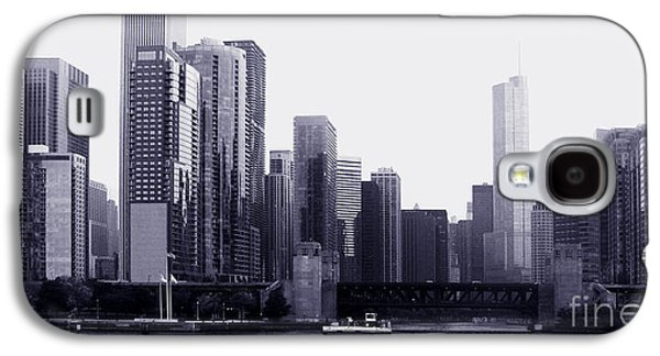 Architecture Tapestries - Textiles Galaxy S4 Cases - Chicago view1 Galaxy S4 Case by Gloria Yanez