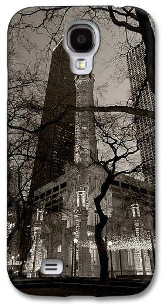 Chicago Water Tower B W Galaxy S4 Case by Steve Gadomski