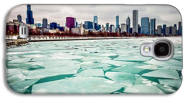 Chicago Winter Skyline Galaxy S4 Case by Paul Velgos