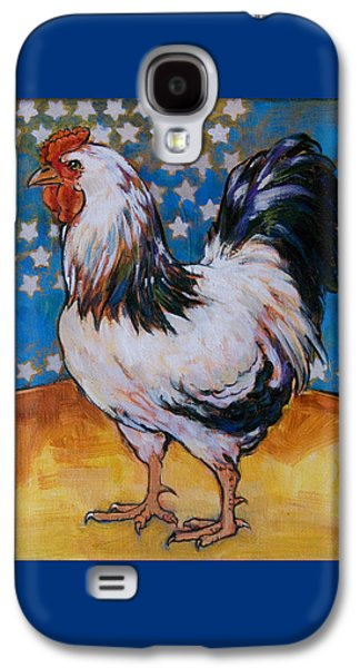 Patriotic Paintings Galaxy S4 Cases - Chicken and Stars Galaxy S4 Case by Tracie Thompson