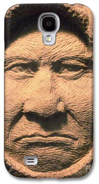 Native Sculptures Galaxy S4 Cases - Chief-Geronimo Galaxy S4 Case by Gordon Punt