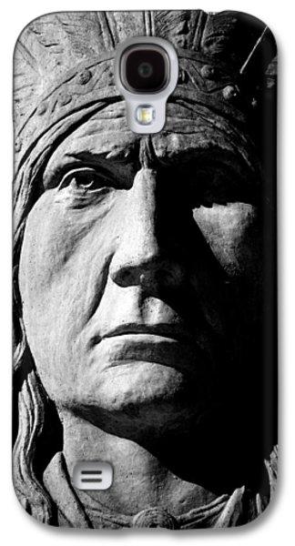Statue Portrait Galaxy S4 Cases - Chief Greystone  Galaxy S4 Case by Jerry Cordeiro