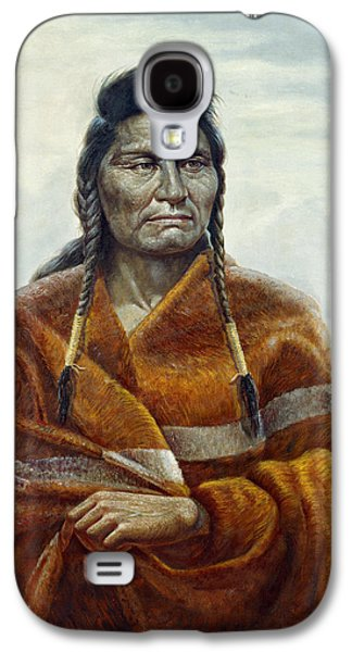Western Art Digital Art Galaxy S4 Cases - Chief Joseph Galaxy S4 Case by Gregory Perillo