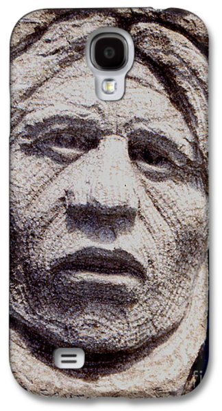 Native Sculptures Galaxy S4 Cases - Chief-Santana Galaxy S4 Case by Gordon Punt