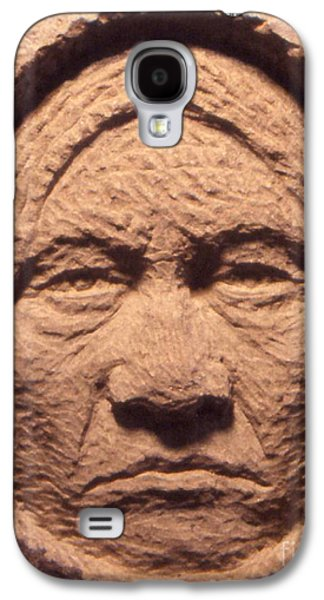 Native Sculptures Galaxy S4 Cases - Chief-Sitting-Bull Galaxy S4 Case by Gordon Punt