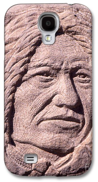 Native Sculptures Galaxy S4 Cases - Chief-Spotted-Tail Galaxy S4 Case by Gordon Punt