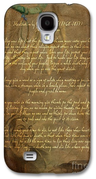 Americans Galaxy S4 Cases - Chief Tecumseh Poem Galaxy S4 Case by Wayne Moran