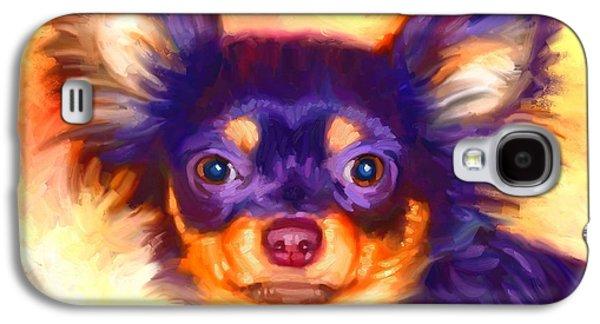 Puppy Digital Galaxy S4 Cases - Chihuahua Art Galaxy S4 Case by Iain McDonald
