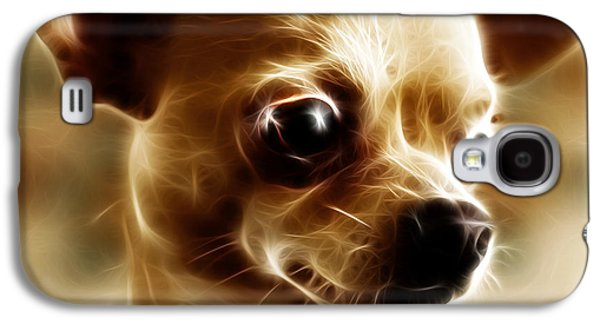 Fuzzy Digital Art Galaxy S4 Cases - Chihuahua Dog - Electric Galaxy S4 Case by Wingsdomain Art and Photography
